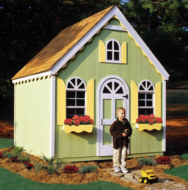 17 best images about diy ideas to convert sheds into an for Kids playhouse shed
