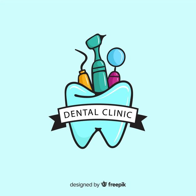 Download Flat Dental Clinic Logotype For Free Con Imagenes