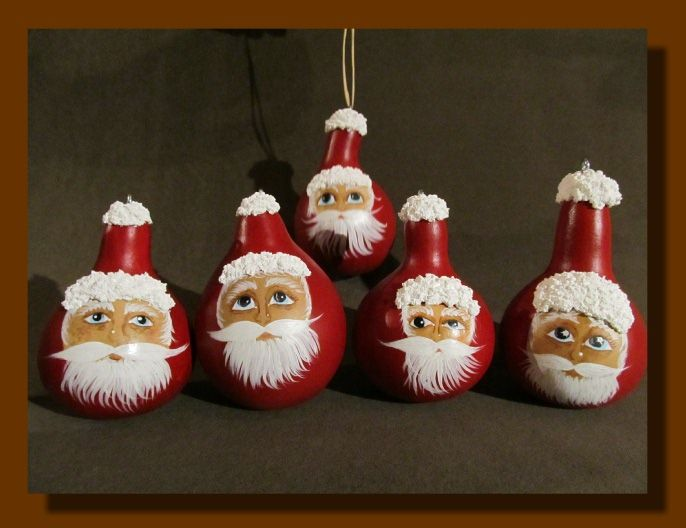 Christmas Painted Gourds | Just Added, description, measurements, and Buy  Now Button coming soon. | GOURDS- FOLK ART | Pinterest | Gourds, Christmas  and ... - Christmas Painted Gourds Just Added, Description, Measurements