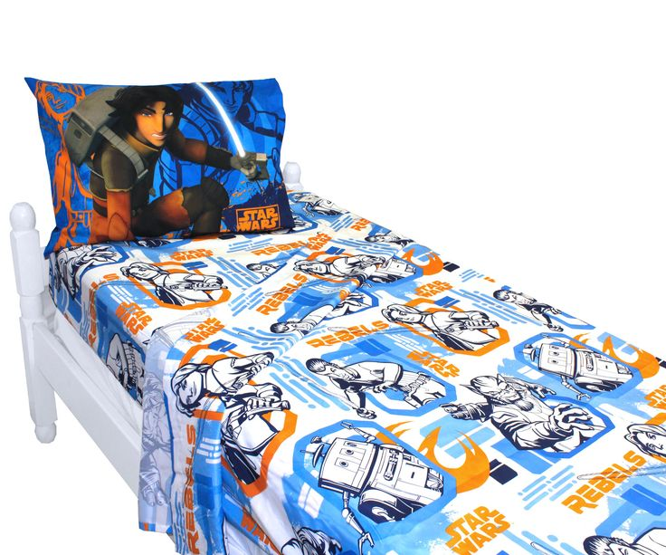 Rebels Fight Bed Sheet Set - Star Wars Bedding Accessories. One flat bed sheet. One fitted bed sheet. One standard pillowcase for twin size. Two standard pillowcases for full size. 3 Piece Bed Sheet Set - Twin $25.73  4 Piece Bed Sheet Set - Full  $29.69