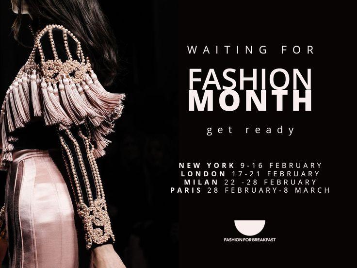 Lo staff di Fashion For Breakfast si sta preparando per il mese della moda. Voi siete pronti ?