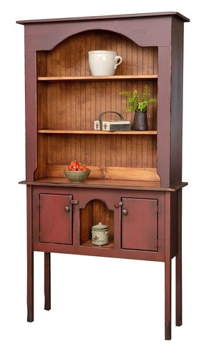 Primitive Colonial Hutch Huntboard Rustic Country Furniture Kitchen Antique  Look