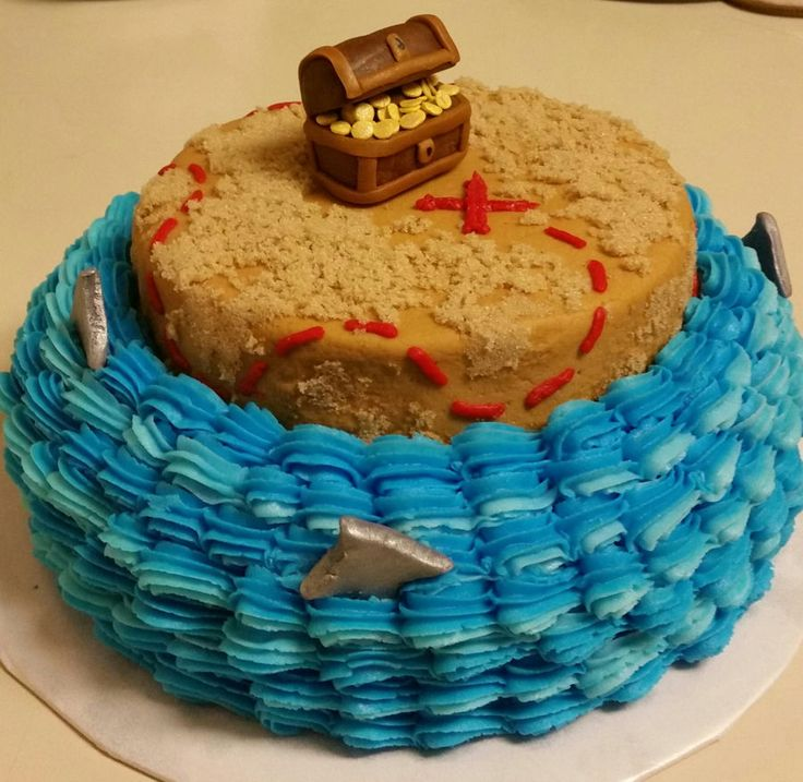 Treasure Chest Smash Cake on Cake Central
