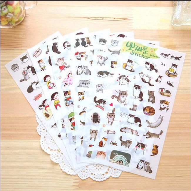 6 Sheets/set Gudetama sticker Japanese Cat pvc stickers for diary book laptop scrapbooking Kawaii Stationery School supplies #>=#>=#>=#>=#> Click on the pin to check out discount price, color, size, shipping, etc. Save and like it!