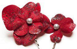 Flower Hair Pins   AllFreeChristmasCrafts.com: Hair Pin, Allfreechristmascraft With, Hair Flowers, Quick Gifts, Gifts Ideas, Girls Gifts, Flowers Hair, Diy Gifts, Flower Hair