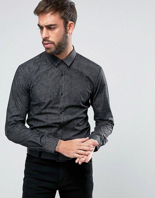 73f5a3c18 HUGO by Hugo Boss Ero 3 Snakeskin Print Shirt Slim Fit | Snakeskin Shirts  for Men | Printed shirts, Shirts, Snake skin