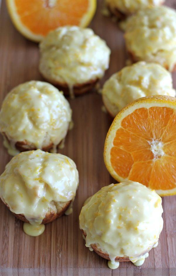 Orange Sour Cream Muffins With Zesty Orange Glaze Recipe Sour Cream Muffins Orange Recipes Sour Cream