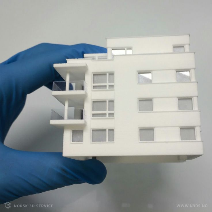 It was hard work to come from the sketch to the printed miniature version of the house #3dmodel #3dprinted