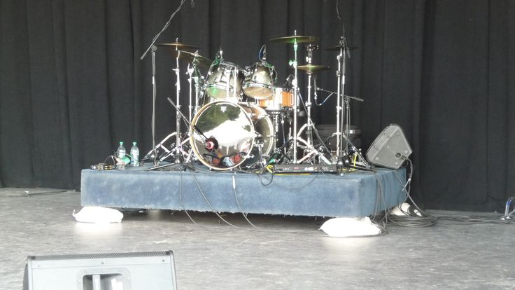 The band Streetheart music equipment setup on Lyric Stage Assiniboine Park Winnipeg Canada!