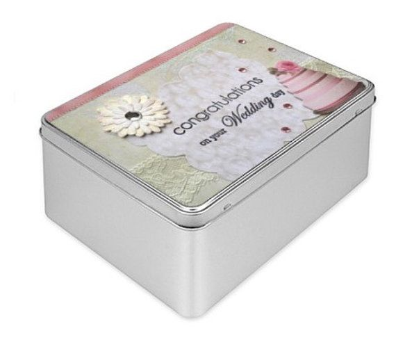 Wedding Gift Memory Boxes : Wedding Gift, Keepsake Wedding gift, Tin Box, handmade, photos box ...