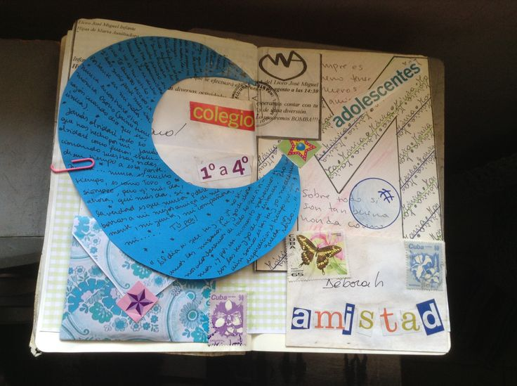 #Collage #LifeProject #ArtJournal Amistades del colegio -  Mónica Osorio