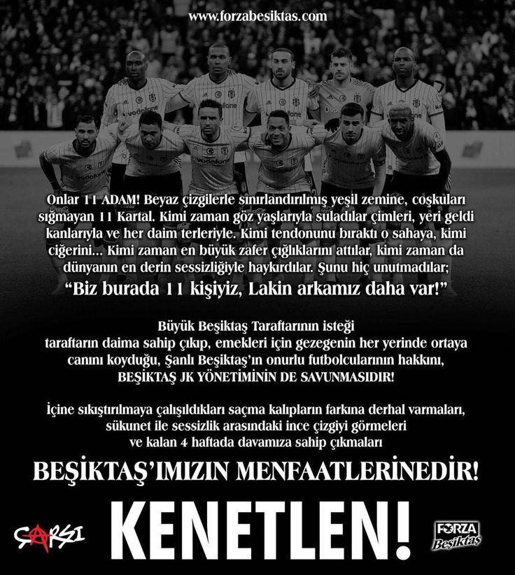 Çarşı'dan Beşiktaş Yönetimi'ne çağrı, Volkan Demirel'e gönderme! - Haber1903   Beşiktaş'ın Kalbi
