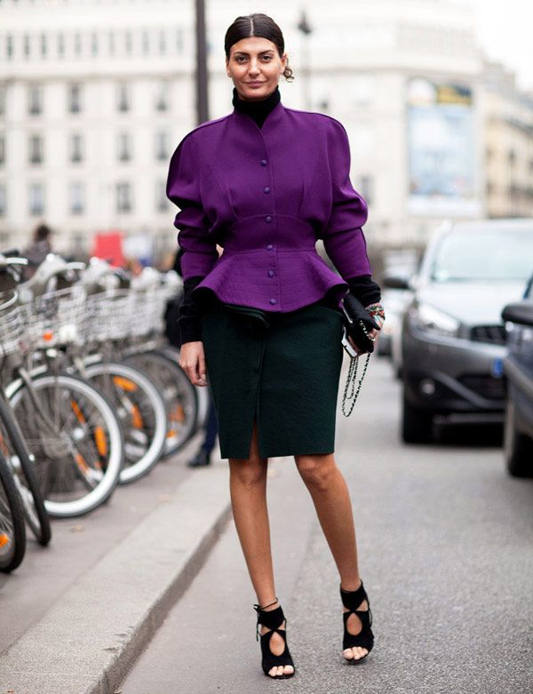 Paris Fashion Week - Street Style Fall 2012 - Harper's BAZAAR #ColorTheory