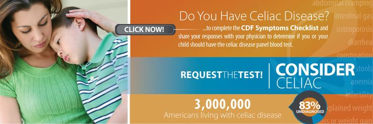 Take this SELF-TEST to see if you have SYMPTOMS AND CONDITIONS of Celiac Disease & shouldn't have gluten