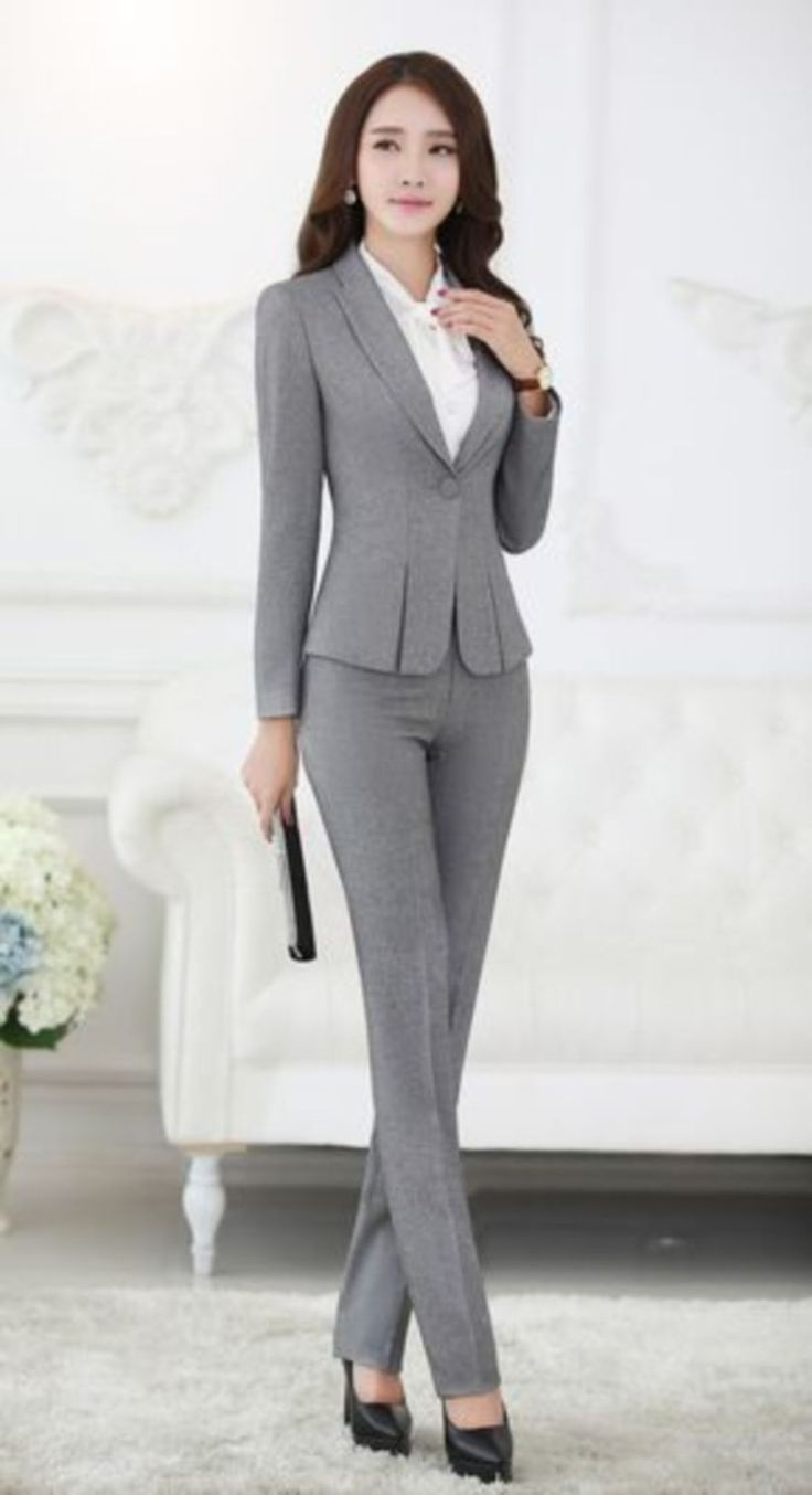 Women Suits And Sneaker Trend Fashionactivation Professional Work Outfit Womens Suits Business Pant Suits For Women [ 1354 x 736 Pixel ]