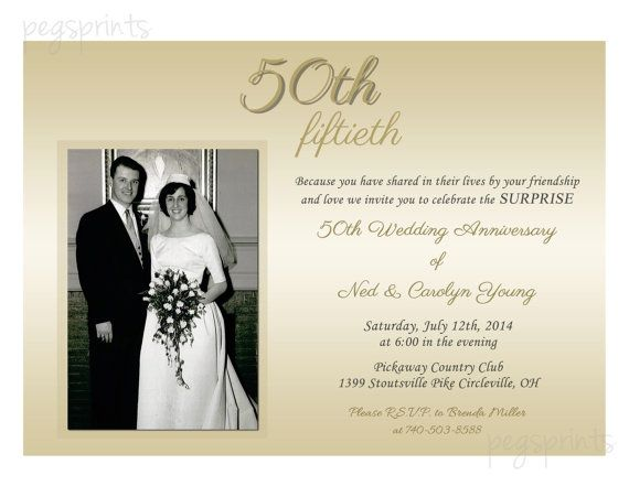 Surprise Wedding Anniversary Invitations: 21 Best 50th Anniversary Images On Pinterest