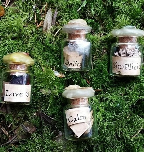 Simplicity Range of Spell Bottles at Gothique Alice on Etsy.