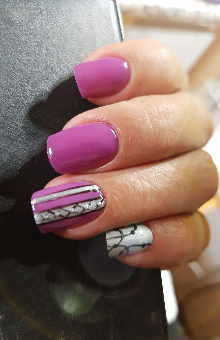 Short natural nails. lilac color. Masterworks #CoolLilac #titanium #aigulfritzkeartistry #nailmasterscanada #masterworksbyamybecker #masterworksincanada