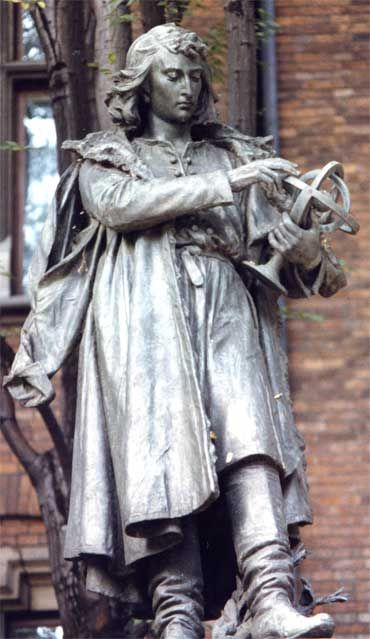 Nicolaus Copernicus monument in Kraków Nicolaus Copernicus (born -1473 in Torun, Poland) was a Renaissance mathematician and astronomer who formulated a heliocentric model of the universe which placed the Sun, rather than the Earth, at the center.