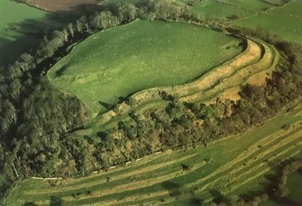 Cadbury Castle, an Iron Age hillfort that some say was King Arthur's stronghold. It's near South Cadbury in Somerset, England, UK