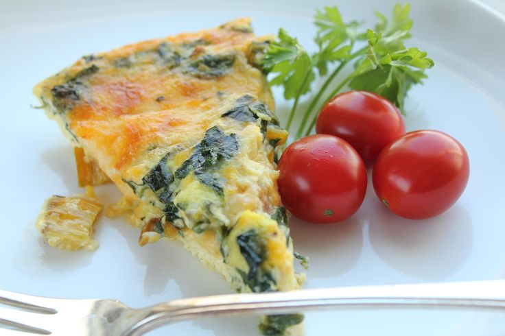 Crustless swiss chard quiche