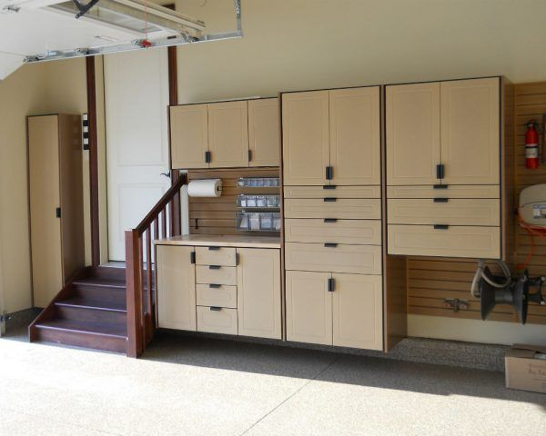 Inimitable Garage Drawers and Cabinets from Marine Grade Plywood with Popular Beige Paint Colors also Wall Mounted Plastic Storage Containers