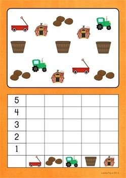 Math Centers - Autumn / Fall (Beginning Skills) . This count and graph is one of the 7 activities included in the unit. The graphs are available with colored backgrounds and plain white.