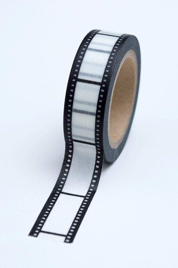Washi Tape - 15mm - Black and White Film Strip - Deco Paper Tape No. 744