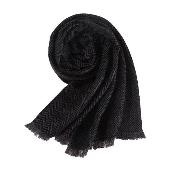 's cashmere scarf pure color wraps shawl ($24) ❤ liked on Polyvore featuring men's fashion, men's accessories, men's scarves, black, mens cashmere scarves, mens scarves and mens shawl