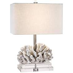 Couture Elkhorn White Coral Table Lamp