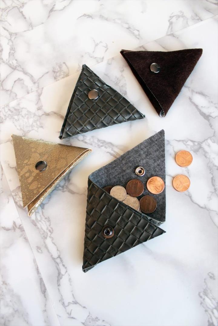22 Wonderful DIY Coin Purse Ideas