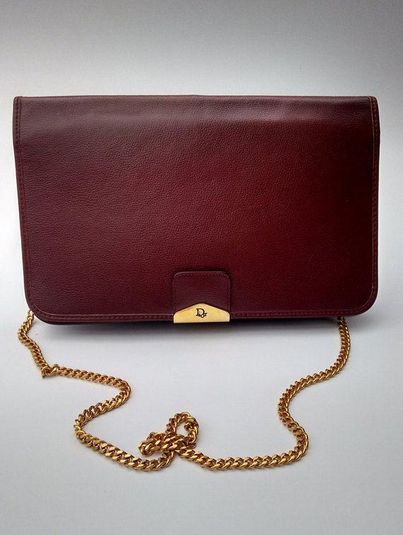 Sale DIOR Christian Dior Vintage Burgundy by Sophiashop123 on Etsy