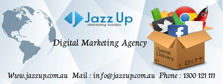 "Digital Media Company  Jazz Up is a leading Digital Media Company of Australia. We always strive to provide our clients outstanding quality with professional Services. ""Yours Success is our Business"" our value added services will have a significant impact to your business, which sure to strengthen our business relationship.  Website : www.jazzup.com.au Mail : info@jazzup.com.au Phone : 1300121111"