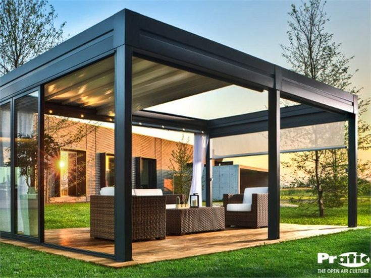 aluminium pergola with sliding cover tecnic reverse tecnic collection by pratic orioli. Black Bedroom Furniture Sets. Home Design Ideas
