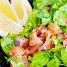 Thai Coriander and Mint Salmon Salad  http://www.sweeterlifeclub.com/recipes/thai-coriander-and-mint-salmon-salad/