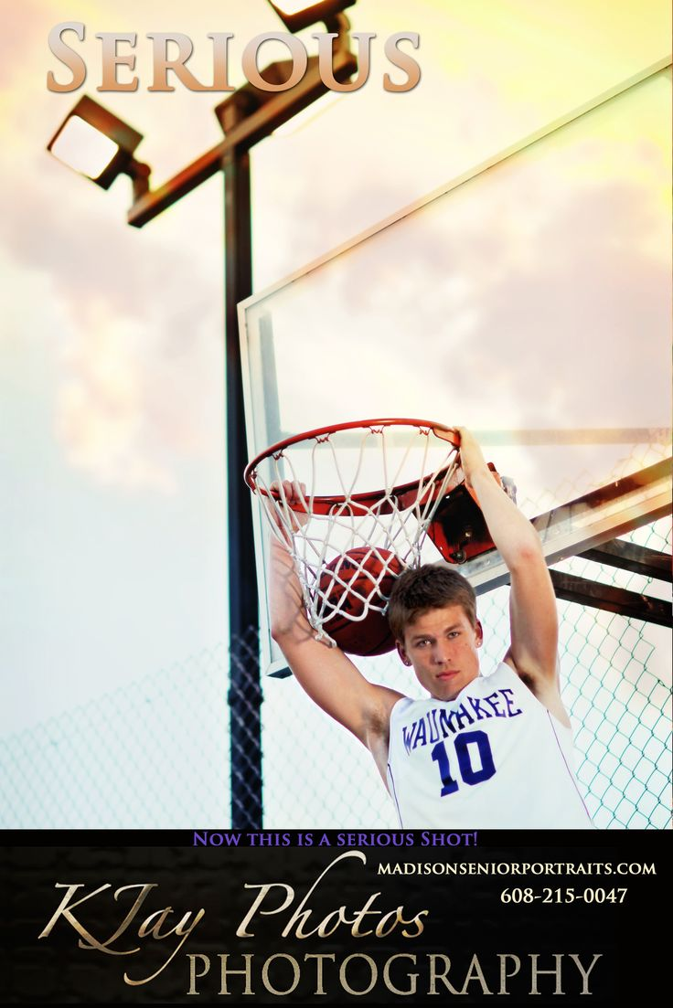 Fun basketball high school senior pictures.  Graduation pictures are not what they used to be for the yearbook so get creative and express yourself.  K Jay Photos Photography, Madison WI, www.kjayportraits.com, Wisconsin.