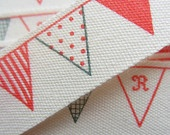 Bunting in Blue & Red.