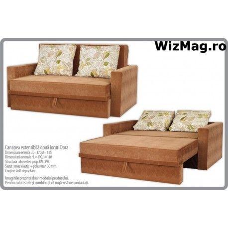 Canapea extensibila Dora cu 2 locuri WIZ 013