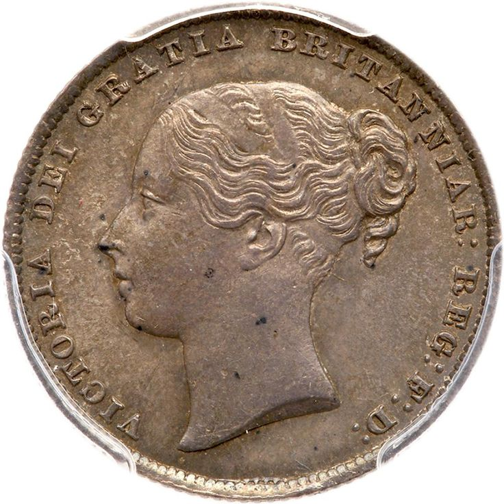 Great Britain.Shilling, 1864 PCGS MS64 S.3905; ESC-1312; KM-734.3. Die number 27. Victoria. Young head. Sharply struck with lovely tone. #Coins #MADonC