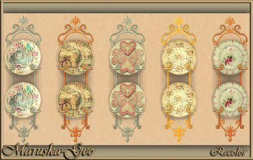 """Set decoration""""Shabby chic"""" recolorДекор для кухни и гостиной """"Шебби…"""