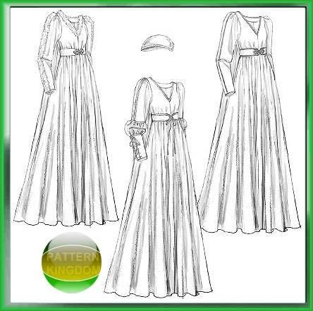 McCalls 5155 Renaissance Bridal Gown/Wedding Dress Patterns