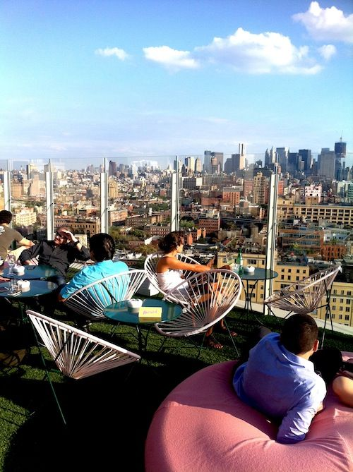 Le Bain, Top of The Standard Hotel. 18th Floor. The most relaxing way to see Manhattan.