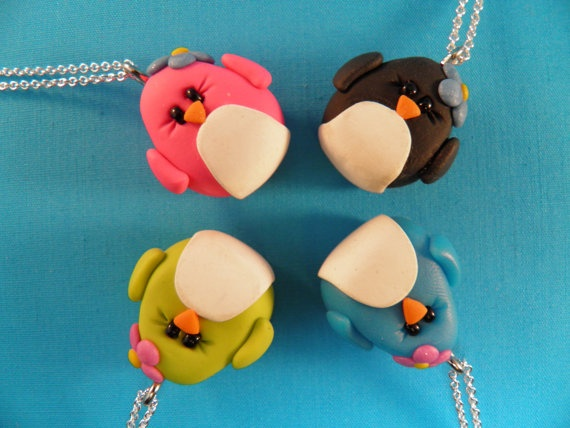 sculpey craft ideas clay penguin pendants easy sunday afternoon sculpey 2889