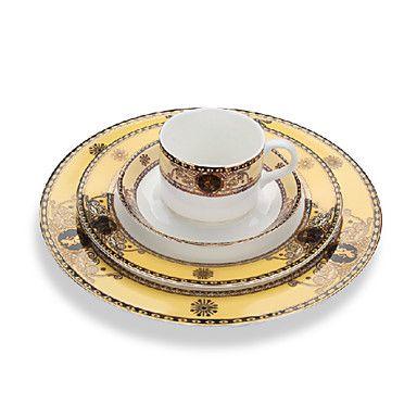 Piatto Rotondo, Set di 4, porcellana 25,5 centimetri e 21 centimetri Plates/1pc Cup/1pc Saucer – EUR € 32.99