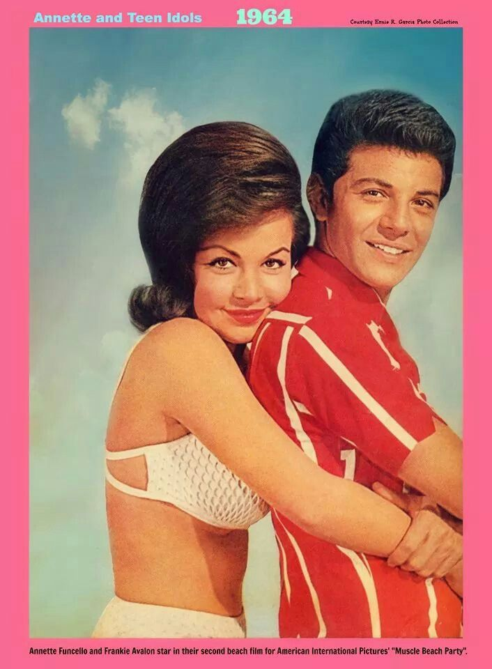 Annette and Frankie Avalon (ca 1964)