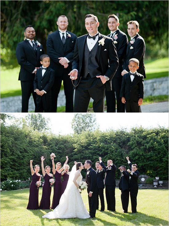 classy groomsmen attire | groom look | black tie bridal party | #weddingchicks