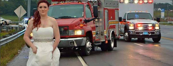 Mentre si sta dirigendo al ricevimento, un incidente coinvolge l'auto dei nonni: lei, che è  paramedico, si rimbocca l'abito da sposa e corre ad aiutare i colleghi dei soccorsi