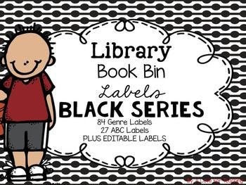 These book bin labels are great for every classroom! Included are 88 theme/genre labels, 27 ABC labels, and some editable labels to help create your own for whatever labels I left out. Each label is available in 2 sizes. I used KG Second Chances Solid as my font on this product.