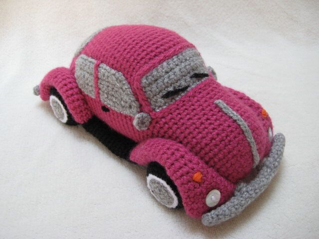Amigurumi-VW Käfer Volkswagen inspiriert Bug Car Crochet Muster PDF von Millionbells auf Etsy https://www.etsy.com/de/listing/237297642/amigurumi-vw-kafer-volkswagen-inspiriert