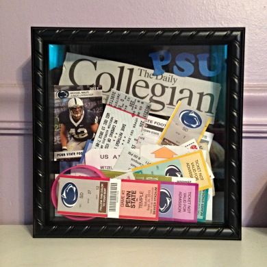 Shadow Boxes: What to do with all those ticket stubs! #pennstate